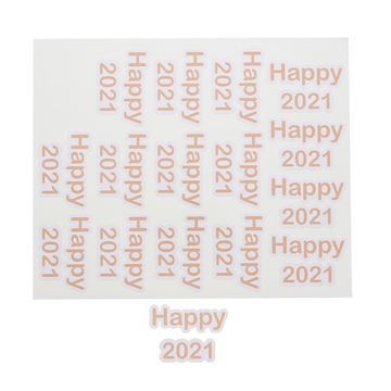 Sticker blinkend Happy 2021 GM nude