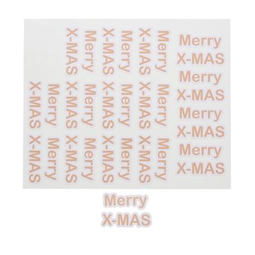 Sticker blinkend Merry X-MAS GM nude