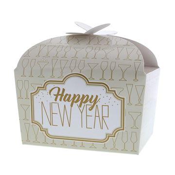 Doos vlindersluiting 500 gr. Sparkle Happy New Year