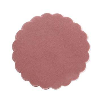 Polytulle 24 cm rond oud roze   I45