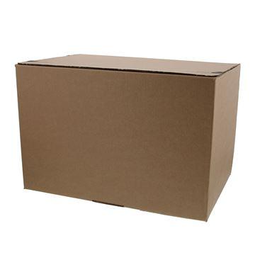 Pack box  L 400 x 260 x 260 mm kraft met kleef- en scheurstrip