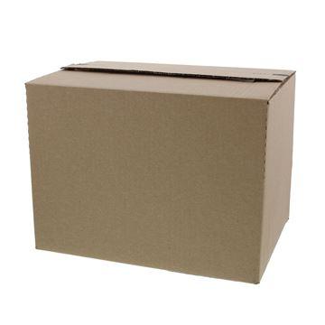 Pack box  M 304 x 216 x 130 - 220 mm kraft met kleef- en scheurstrip