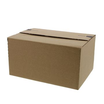 Pack box  S+ 229 x 164 x 50-115 mm kraft met kleef- en scheurstrip