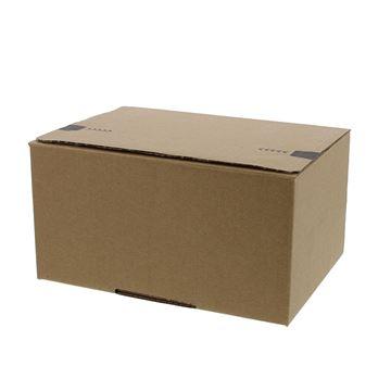 Pack box  S 213 x 153 x 109 mm kraft met kleef- en scheurstrip