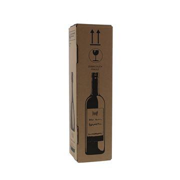 Verzenddoos voor 1 fles 105 x 105 x 420 mm kraft