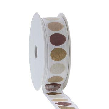 Lint egg-design  25mmx20m kl.460 aardtinten + goud