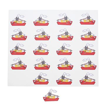 Sticker blinkend Sint Party boot KM