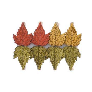 Esdoornblad in herfstkleuren speld