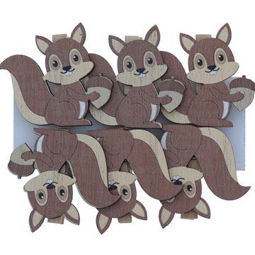 Eekhoorn met eikel speld