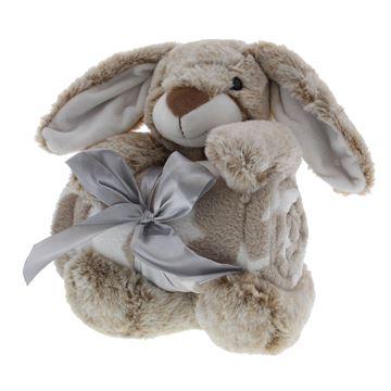 Konijn Binky met deken