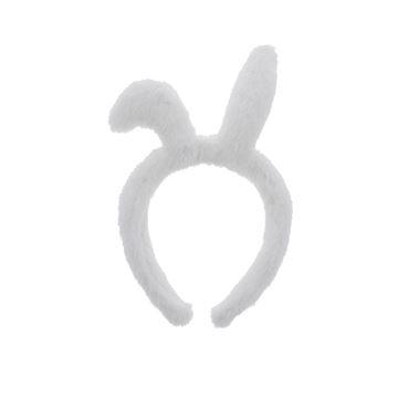 Diadeem Plush met oortjes wit