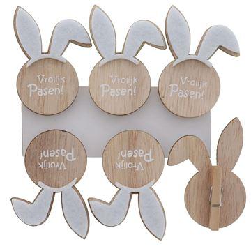 Bunny Ears Vrolijk Pasen speld