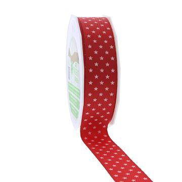 Lint Mini Stars New Life 100% recycling 25 mm x 25 m rood 609