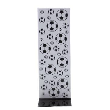 J-karton Black & white voetbal 77 x 50 + 215 mm