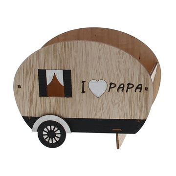 Papa bakje open caravan