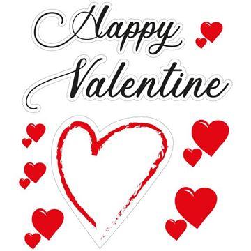 Raamsticker blinkend Love Heart  Happy Valentine