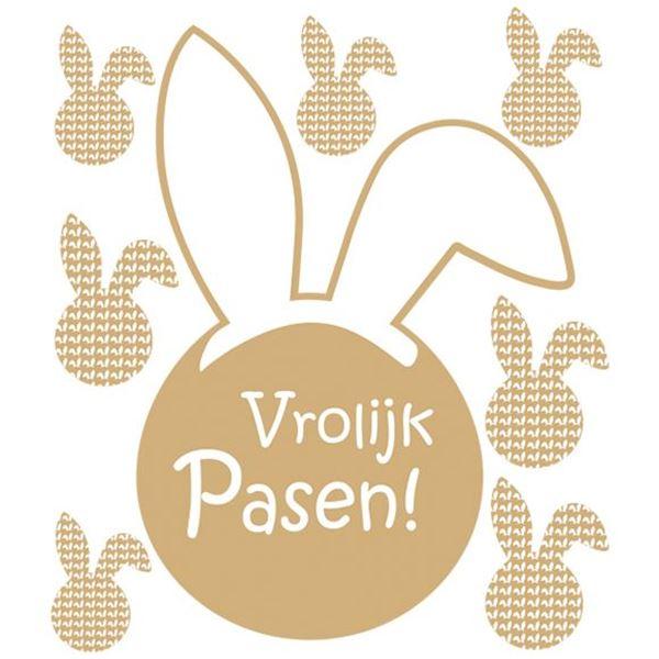 Raamsticker blinkend Bunny Ears Vrolijk Pasen