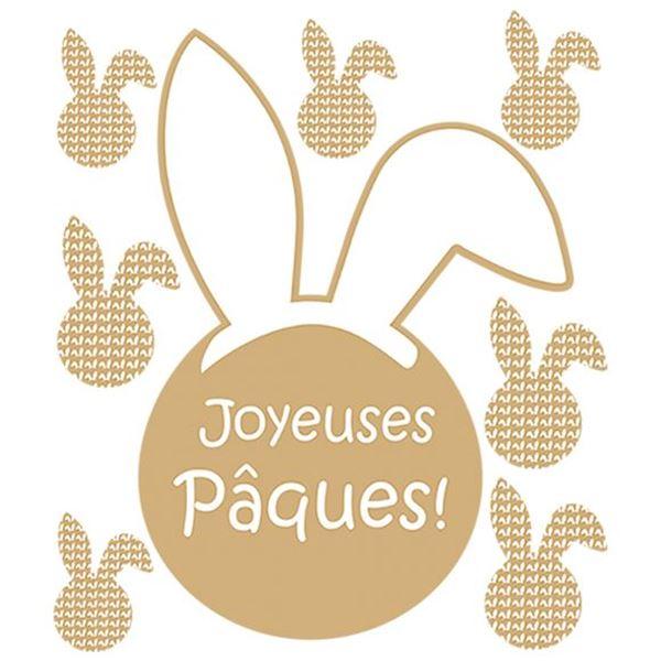 Raamsticker blinkend Bunny Ears Joyeuses Pâques