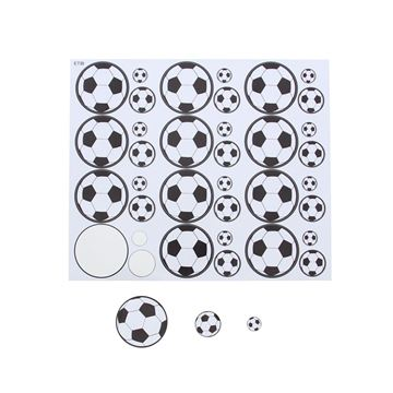 Sticker blinkend Black & white voetbal