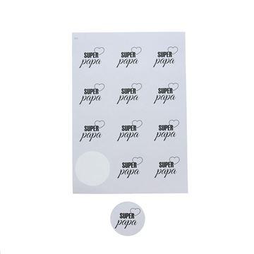 Sticker 6,35 cm papa Papion