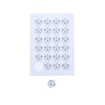 Sticker 4 cm Black & white voetbal
