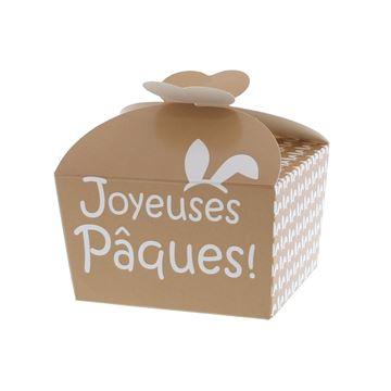 Doos vlindersluiting 250gr Bunny Ears Joyeuses Pâques