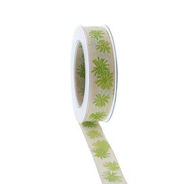 Lint Blumenfest 25mmx20m kleur groen 21
