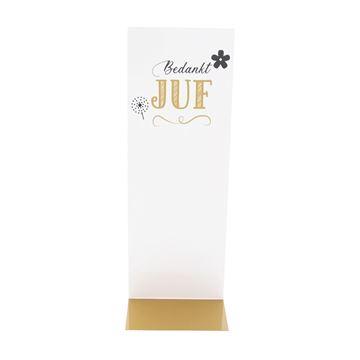 J-karton Bedankt Juf 77 x 50 + 215 mm