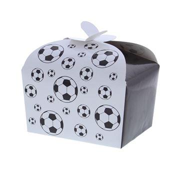 Doos vlindersluiting 250 gr. Black & white voetbal