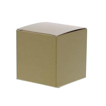 Kubus 5 x 5 x 5 cm goud mat