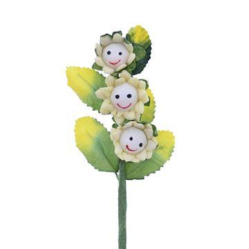 Smile 3 bloemen lichtgeel