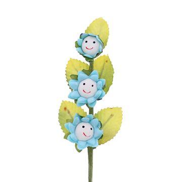 Smile 3 bloemen lichtblauw