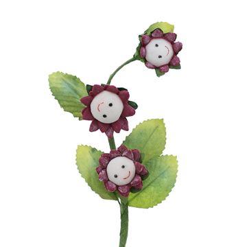 Smile 3 bloemen bordeaux