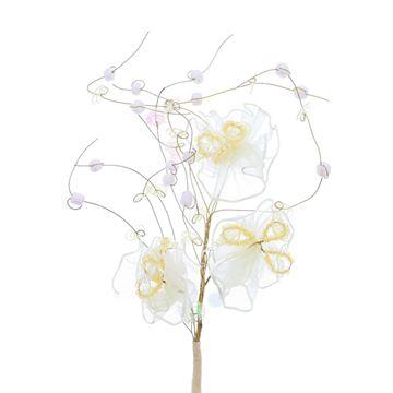 3 voile rozen parel / paillette ecru