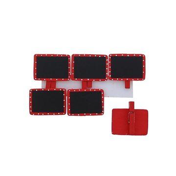 Bord rechthoekig speldje GM rood