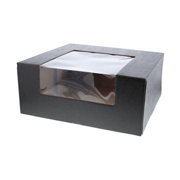 Marmotta doos met venster 35 x 35 x 15 cm Kraft Nero zwart
