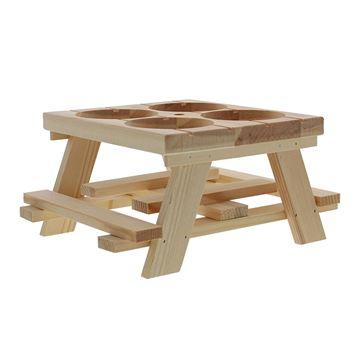 Picknicktafel voor 4 buikflesjes