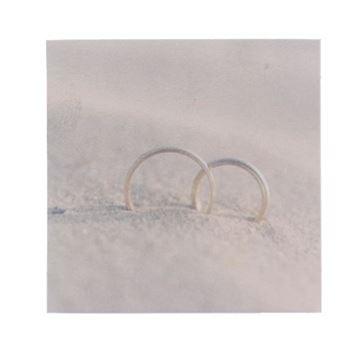 """""""Ringen in het zand"""" vierkant kaart"""