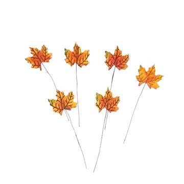 Herfstblad met warme tinten op steel KM