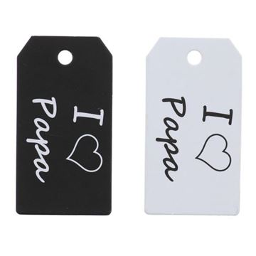 "Label ""I love papa"" KM zwart-wit"