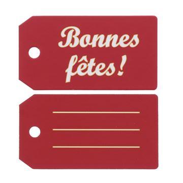 """Label """"Bonnes fêtes"""" KM"""