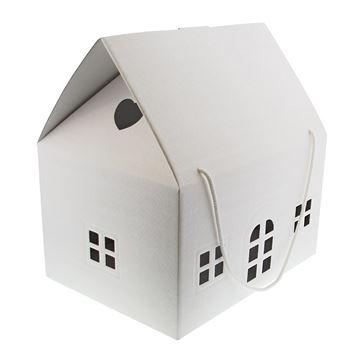 Huis Matelasse H = 34 cm met koord