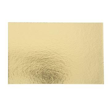 Goudkarton rechthoekig 120 x 185mm