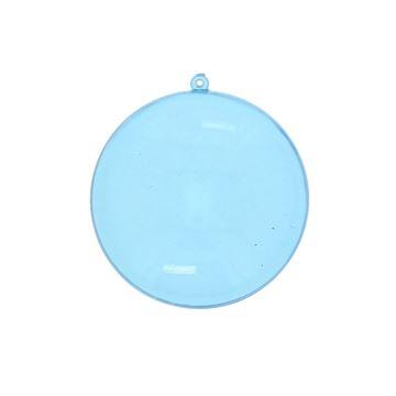 Plexi lentille XL met lus 7 cm licht blauw