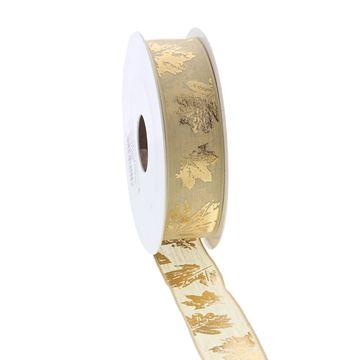 Lint Foglie 25 mm x 10 m goud 51
