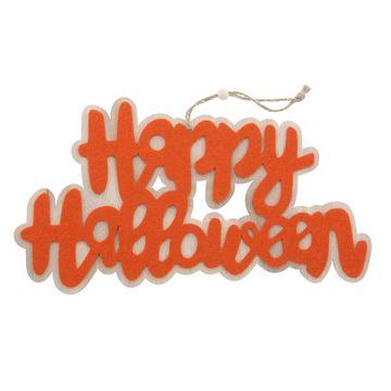 Happy Halloween deco hanger oranje GM