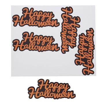 Sticker blinkend Happy Halloween oranje GM
