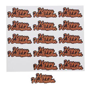 Sticker blinkend Happy Halloween oranje KM