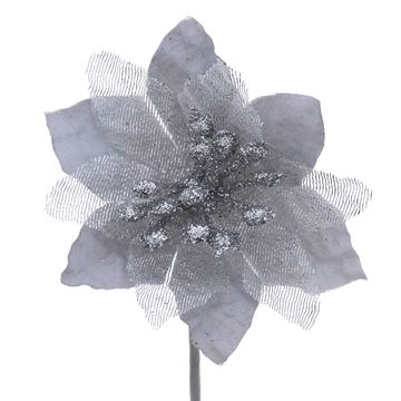 Poinsettia KM zilver
