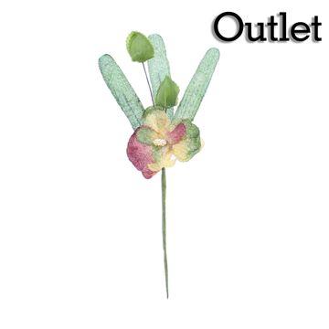Orchidee 1 bloem groen/bordeaux/goud